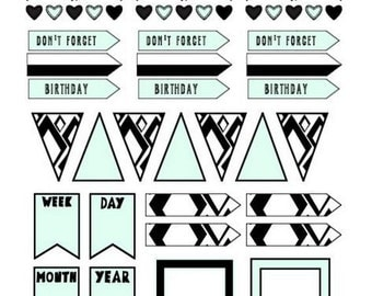 """Planner stickers """"banners"""""""