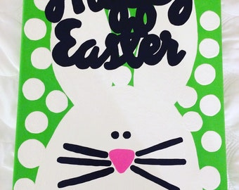Happy Easter Holiday Canvas // Ready to Ship!