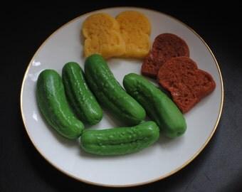 5 x  Gherkin, Pickle Soap! - Novelty, Prank, Gag, Joke