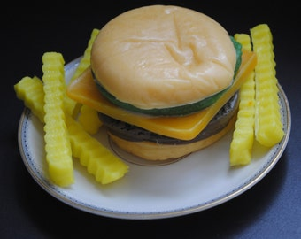 Hamburger with fries, burger Soap! - Novelty, Prank, Gag