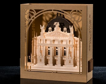 3D pop up card Architectural model Lviv Opera & Ballet House, Ukraine Ballet invitation card Gift for him Gift Greeting Card Opera House