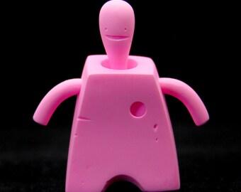 Roam - Handmade Articulated Figure - DIY (Paint, Customize) - ONE OFF - Fluorescent Pink