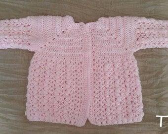 Baby Girls Crochet Cardigan