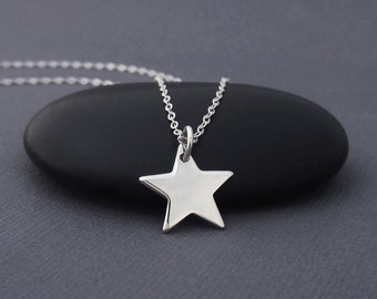Star Necklace Sterling Silver Star Charm Pendant 925