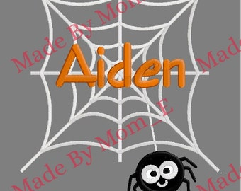 Itsy Bitsy Spider Web Applique