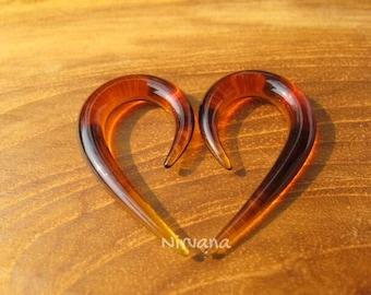 "Amber Fish Hook Spirals 10g 8g 6g 4g 2g 0g 00g 7/16"" 1/2"" 9/16"" 5/8""  2.5 mm 3 mm 4 mm 5 mm 6 mm 8 mm 10 mm - 16 mm"