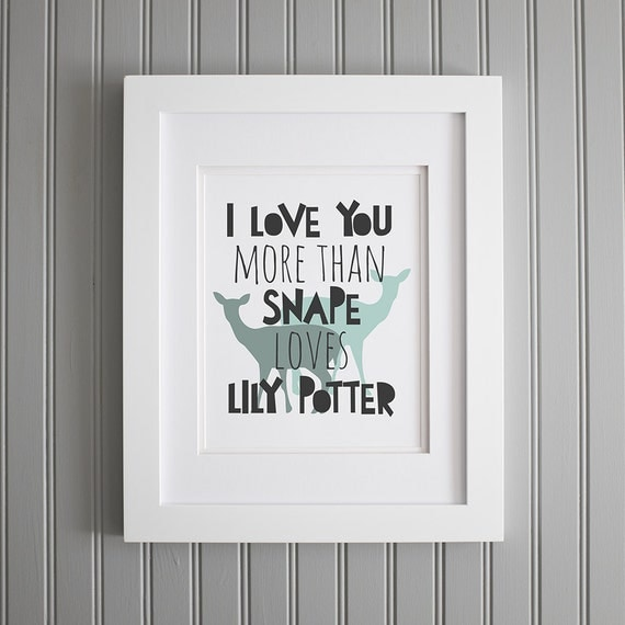 harry potter quote i love you more wall art harry by. Black Bedroom Furniture Sets. Home Design Ideas