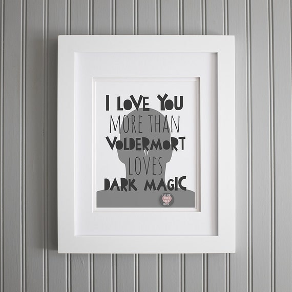 harry potter quote i love you more wall art by therootedpair. Black Bedroom Furniture Sets. Home Design Ideas