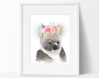 Koala Art Print - Wall Art - Animal Decor - Children's Wall Art - Home Decor