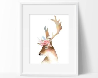 Deer Art Print - Wall Art - Animal Decor - Home Decor
