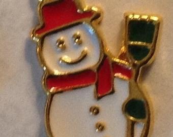 Jolly Snowman set of 3. 1/2 inch each