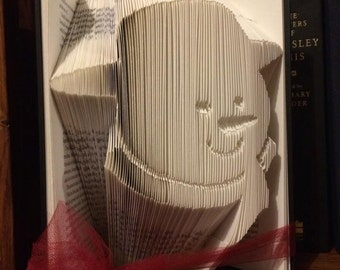 Book folding pattern for a snowman ~ Christmas ~ +Free tutorial