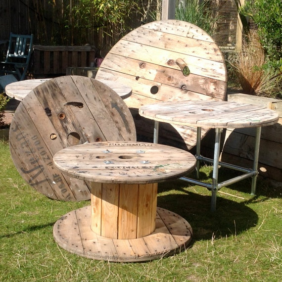 Wooden Cable Reel Drum Ends for Table Tops or DIY Project Ideas ...