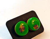 Stud earrings Polymer clay
