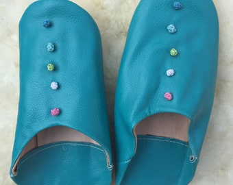 Handmade leather slippers