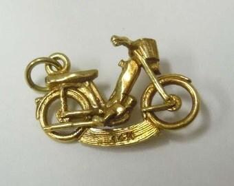 Vintage 14Kt Gold Bermuda Bike 3D Pendant Charm Cruiser Bicycle