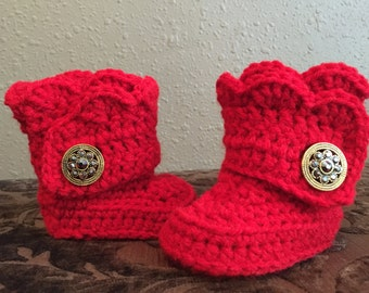 Crochet Ugg Style Baby Boots