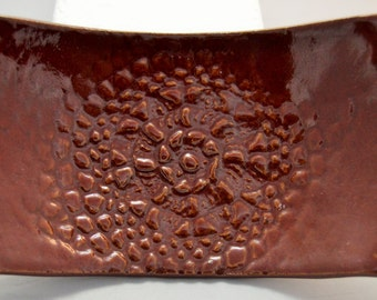 Soap Dish in Deep Firebrick Red