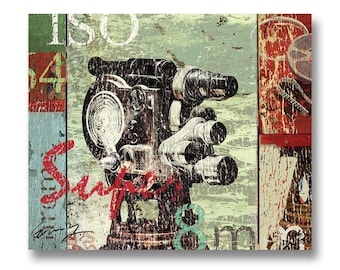CAMERA SUPER 8MM; Canvas Art by Eric Yang;Art Print Available
