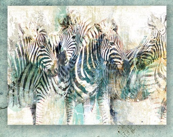 ZEBRA; Canvas Art by Eric Yang; Wild African Animal ;Art Print on Paper Available