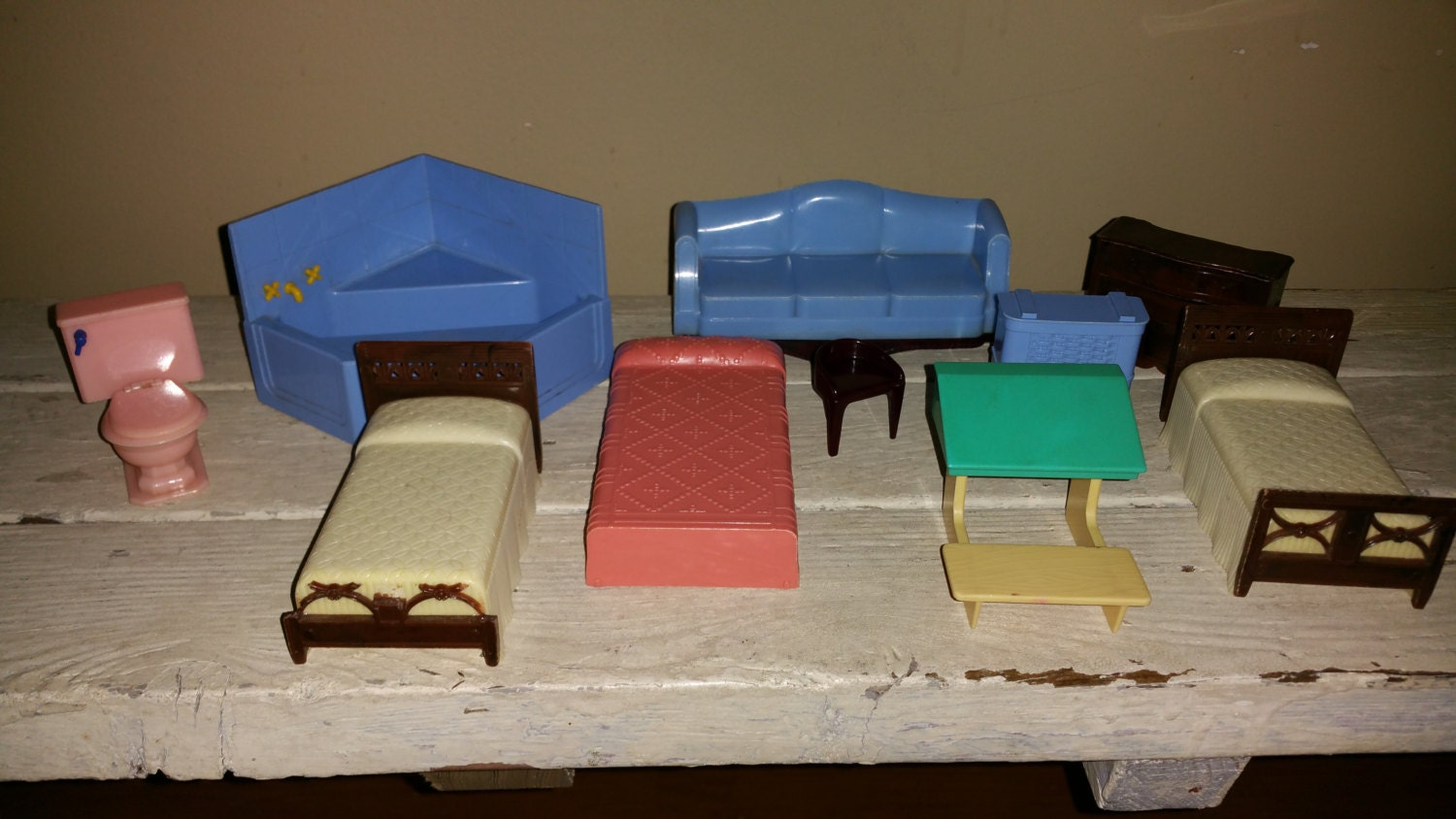 Vintage Plastic Dollhouse Furniture Haute Juice