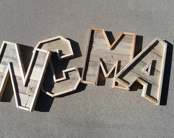 15 inch Reclaimed wood Pallet letters