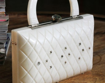 Vintage White Pearlized Convertable Clutch