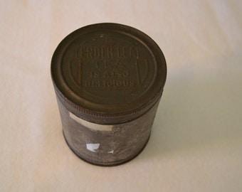 Vintage Tin, Farmhouse style, Vintage tea tin, marked Tender Leaf Tea also delicious, medium tea tin