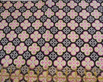 Destash- 1 Full Yard Of Black And Purple Cotton Quilters Fabric For Quilting Or Crafting