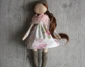 Handmade Fabric Doll, Decorative Doll, rag Doll, Unique Magic Doll, Handmade Toy, Home Decoration