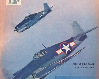Flying Aces December 1943 WW2 Magazine Planes Airplanes