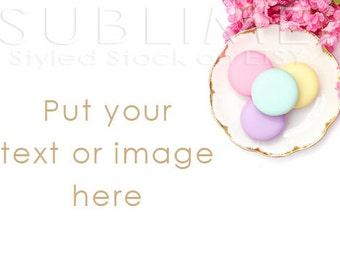 Styled Stock Photography / Blog Photo / Blog Background / Macaroons / Header Image / Website Image / JPEG Digital Image / StockStyle-548