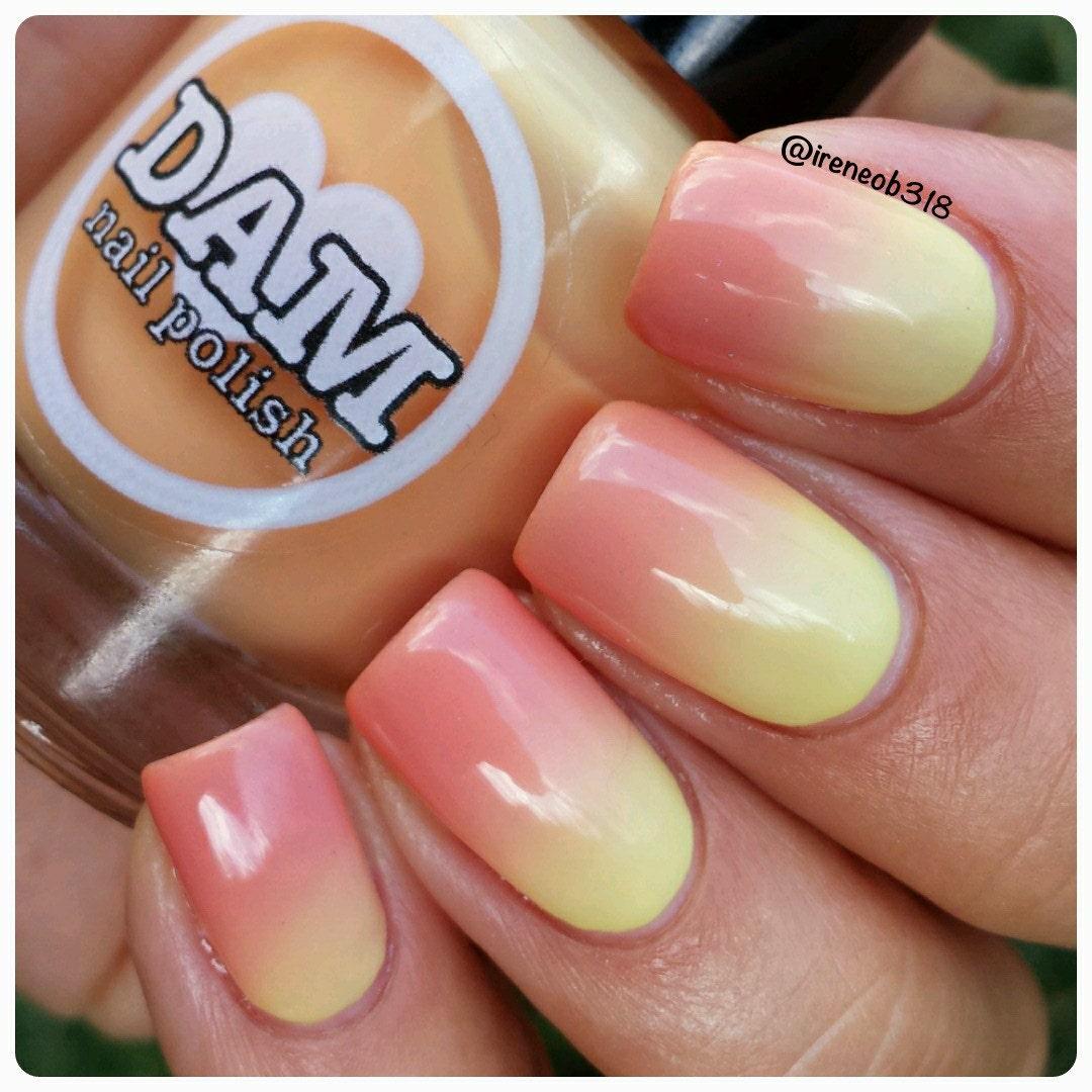 Nail Polish Goes Yellow: Thermal Nail Polish Orange Polish Yellow Polish Bright