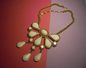 White pendant necklace (84), signed SCHREINER, to 1950