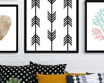 Chevron Geometric Printable Art, Modern Geometric Wall Art, Chevron Design, Chevron Geometric Poster, Chevron Art, Scandinavian Print