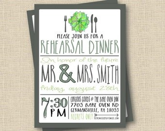 Rehearsal dinner invitation template – Etsy