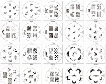 Konad Image Plates m62 - m102, S1-S17 for stamping nail art designs metal stencil manicure