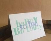 Letterpress Birthday Card 10 pack - Happy Birthday to YOU!