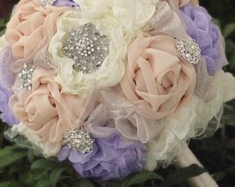 Bridal Bouquet   Fabric Wedding Flowers   Wedding Bouquet   Brooch Bouquet   Fabric Bridal Bouquet   Fabric Flower   Chiffon Bridal Bouquet