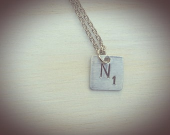 Scrabble letter necklace