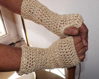 Crochet metalic Gauntlets