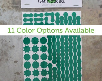 Gear Head Velosight™ Reflective Bicycle Decals and Bike Helmet Stickers - 11 color options to match bike accessories