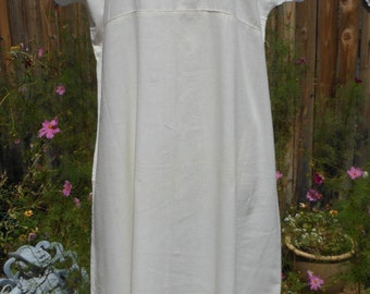 Vintage Early 1900s Embroidered Linen Cover-up, Pinafore, Sundress or Dress