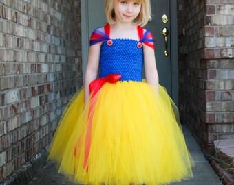 Snow White Tutu Dress. Baby/Toddler Snow white tutu dress. Snow White Halloween Costume. Snow White Birthday Dress. Snow White Pageant Dress