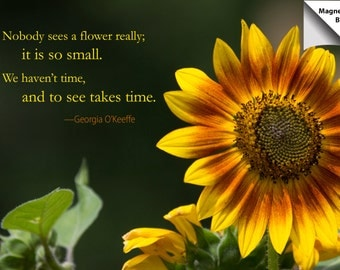 Magnet: Sunflower with inspirational quote
