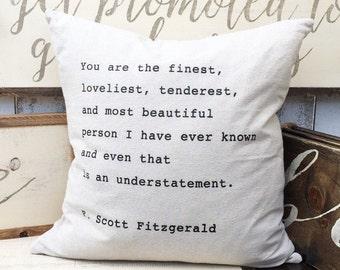 Finest, Loveliest Pillow Cover
