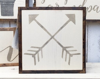 1'X1' Crossed Arrows Sign