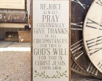 Rejoice Always Sign