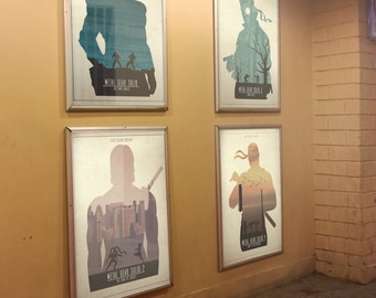 Metal Gear Solid Poster Print Collection. Minimalist Video Game Art.