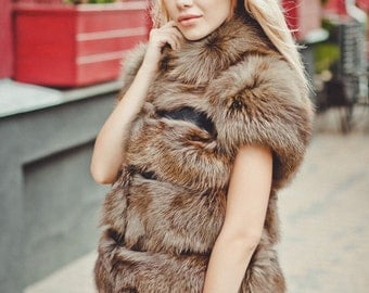 "Real fur vest ""Sable"""